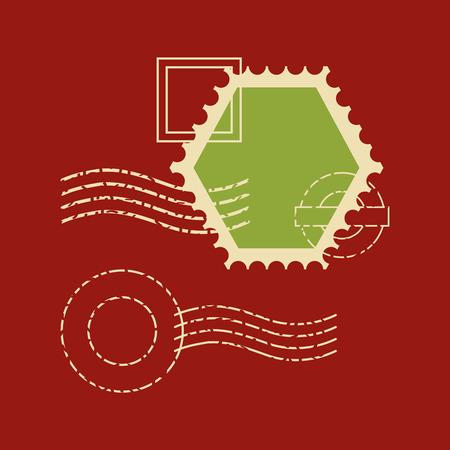 postage stamp communication template design vector illustration vector illustration 스톡 콘텐츠 - 127260135