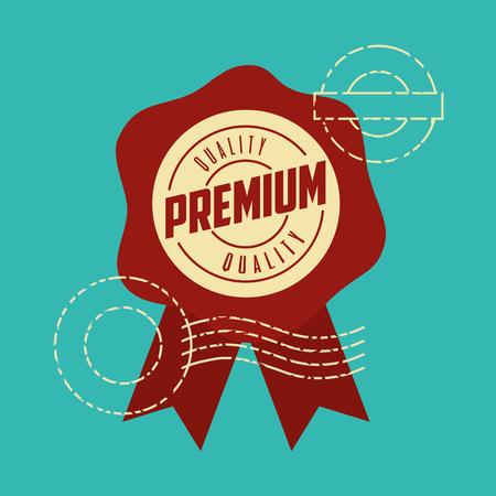 label template premium quality card vector illustration
