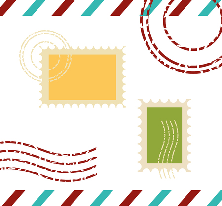 postage stamp communication template design vector illustration vector illustration