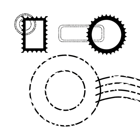 postage stamp communication template design vector illustration vector illustration 스톡 콘텐츠 - 127260166