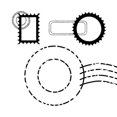 postage stamp communication template design vector illustration vector illustration