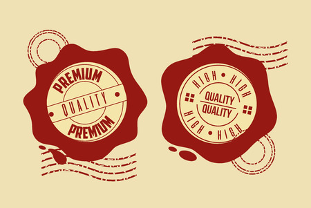 premium high seal quality template vector illustration Ilustracja
