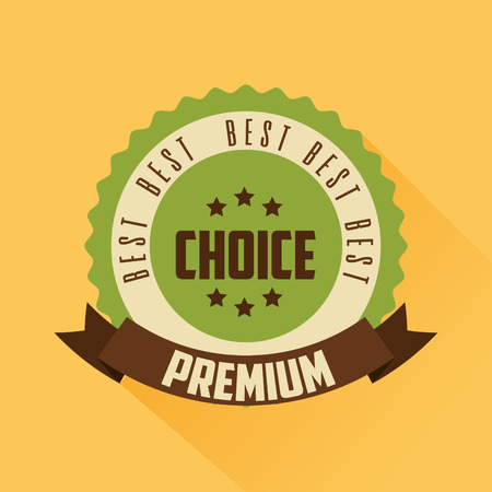 premium high quality template badge retro vector illustration Foto de archivo - 112862182