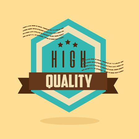 premium high quality template badge retro vector illustration Foto de archivo - 127260184