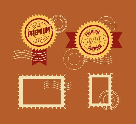 label ribbon premium quality template vector illustration Foto de archivo - 127260190