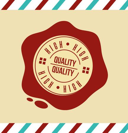 premium high quality template badge retro vector illustration Foto de archivo - 112862191
