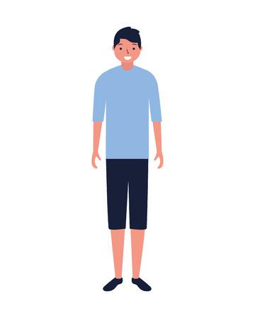 man standing character white background vector illustration Foto de archivo - 127260521
