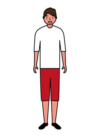man standing character white background vector illustration Vecteurs