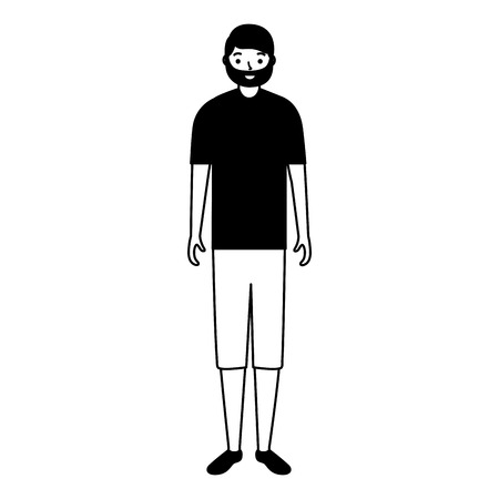 man standing character white background vector illustration Foto de archivo - 112876691