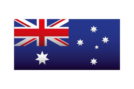 map national symbol happy australia day vector illustration