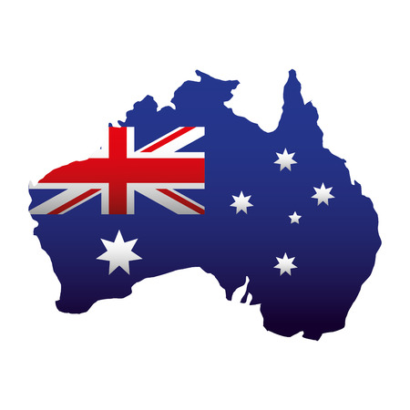 map country map happy australia day vector illustration Ilustrace