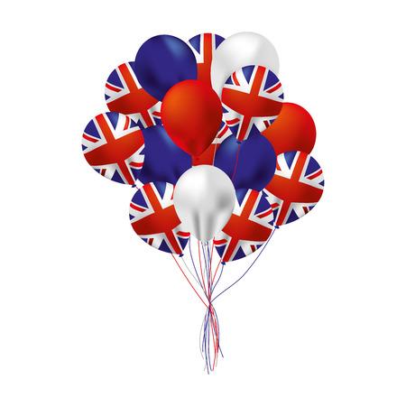 balloons flag happy australia day vector illustration Illustration