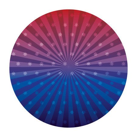 stars sunburst round decoration gradient vector illustration Ilustração