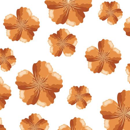 beauty flowers nature decoration background vector illustration