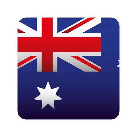 geometric flag button happy australia day vector illustration