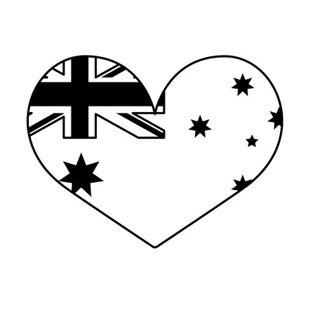 flag shaped heart flag happy australia day