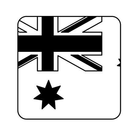 geometric flag button happy australia day vector illustration Reklamní fotografie - 112882483