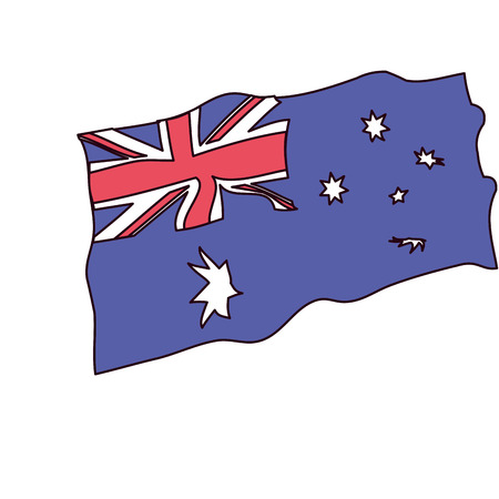 map country map happy australia day vector illustration Ilustração