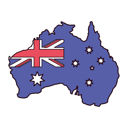 map country map happy australia day vector illustration  イラスト・ベクター素材