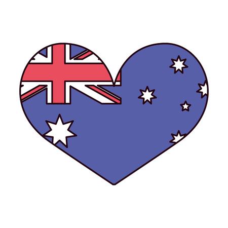 flag shaped heart flag happy australia day