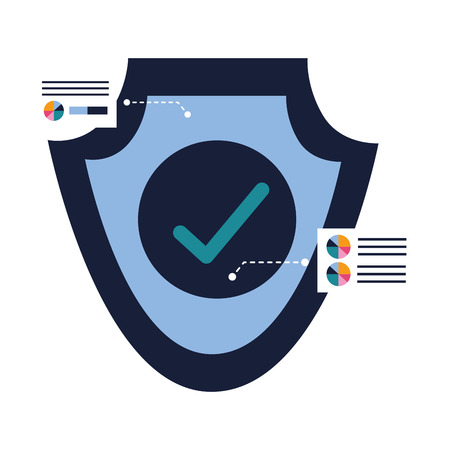 shield protection security access safe vector illustration