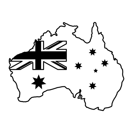 map country map happy australia day vector illustration Çizim