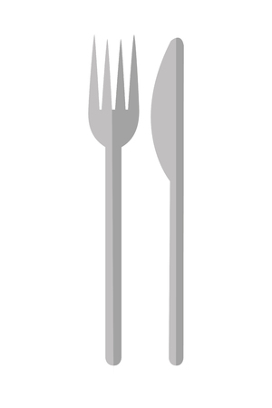 fork and knife on white background vector illustration Stock Vector - 127260775