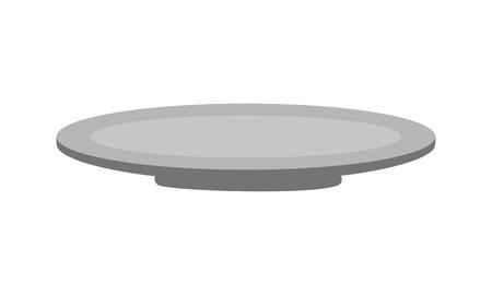 dish kitchen on white background vector illustration Standard-Bild - 127260776