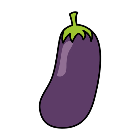 eggplant fresh healthy food on white background vector illustration Ilustração