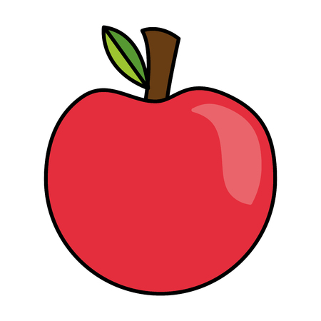 apple fresh healthy food on white background vector illustration  イラスト・ベクター素材