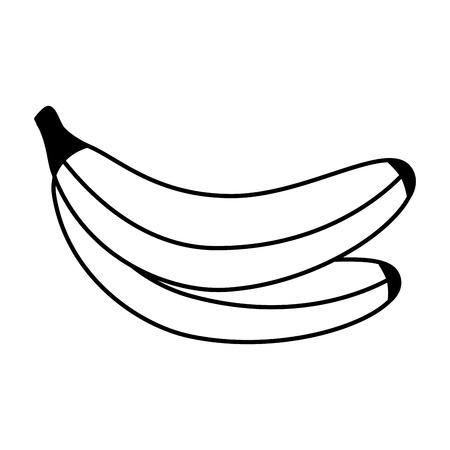 bananas fresh healthy food on white background vector illustration Foto de archivo - 127260808