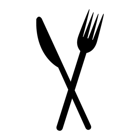 fork and knife on white background vector illustration