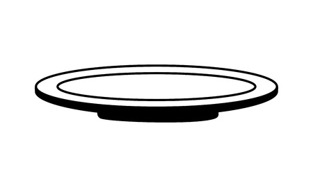 dish kitchen on white background vector illustration