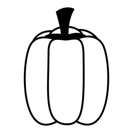 bell pepper fresh healthy food on white background vector illustration Иллюстрация