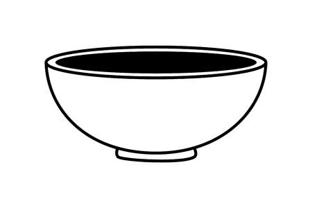 bowl kitchen on white background vector illustration