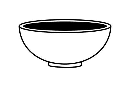bowl kitchen on white background vector illustration