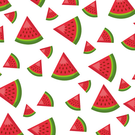 watermelon healthy food fresh background vector illustration