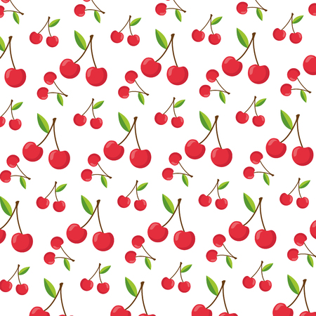 cherry healthy food fresh background vector illustration Ilustração
