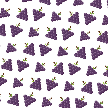 grapes healthy food fresh background vector illustration Çizim