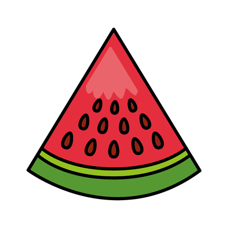 watermelon fresh healthy food on white background vector illustration