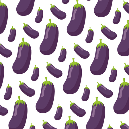 eggplant healthy food fresh background vector illustration Ilustração