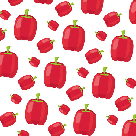 pepper healthy food fresh background vector illustration