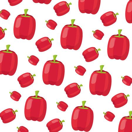 pepper healthy food fresh background vector illustration