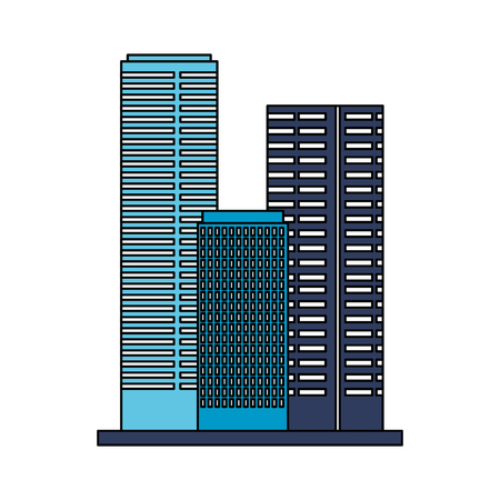 buildings architecture on white background vector illustration