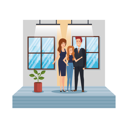 group of business people in the office vector illustration design 版權商用圖片 - 127243541