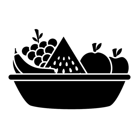 bowl with fruits healthy food vector illustration vector illustration