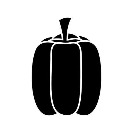 bell pepper fresh healthy food on white background vector illustration vector illustration