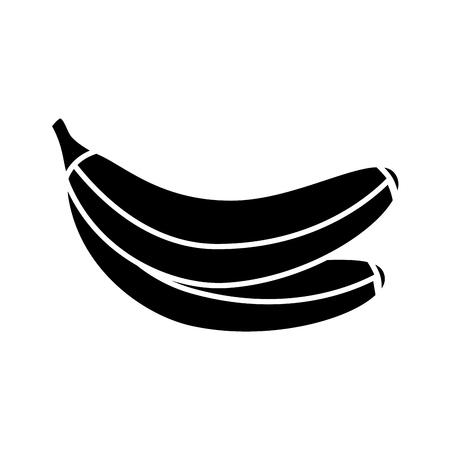 bananas fresh healthy food on white background vector illustration vector illustration Foto de archivo - 127213471
