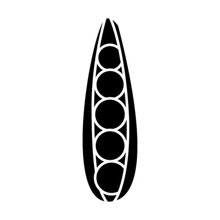 peas fresh healthy food on white background vector illustration vector illustration  イラスト・ベクター素材