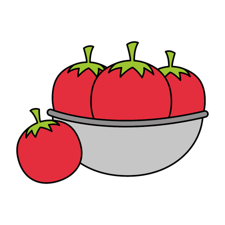 bowl with tomatoes healthy food vector illustration 向量圖像
